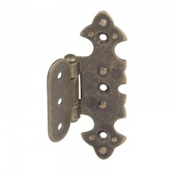 Decorative hinge brass